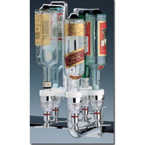 Forgatható italtartó állvány polcra pultra vagy falra szerelhető 5 üvegnek