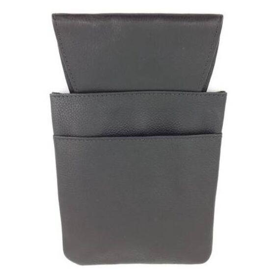 Pincér brifkó tartó műbőr fekete 2 fakkos 13,5x21,5cm