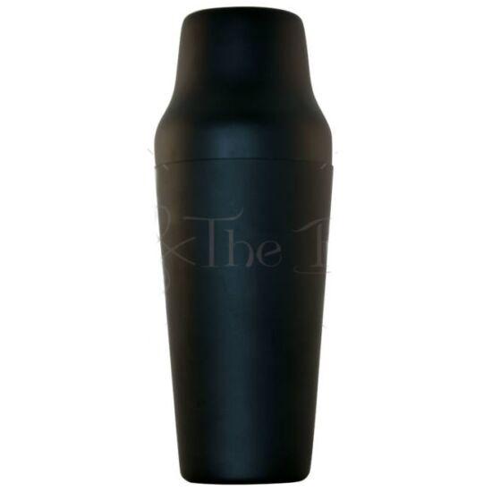 The Bars minőségi polírozott francia shaker matt fekete 900 ml