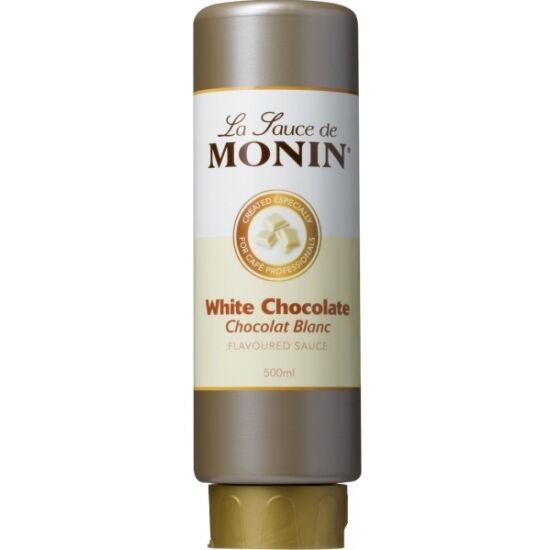 Monin Fehér csokoládé szósz (White chocolate) 0,5L